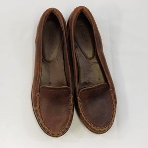 Timberland Brown Vintage Leather Loafers 9